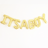 It's A Boy Mylar Banner  - The Project Nursery Shop
