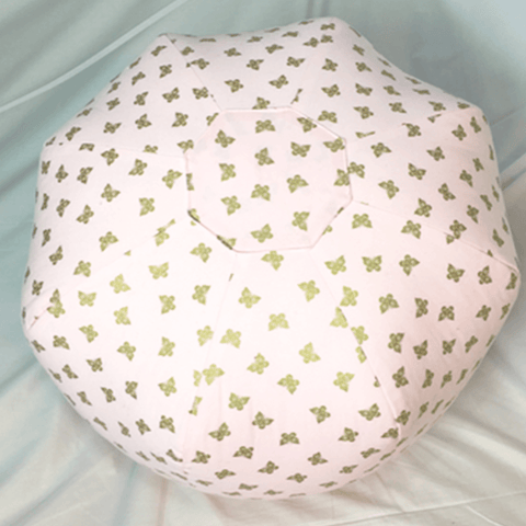 Blue Heart Pouf
