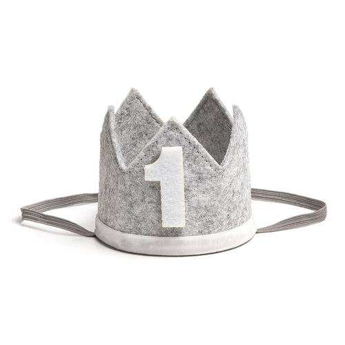 Birthday Boy Party Crown - Gray + White - Project Nursery
