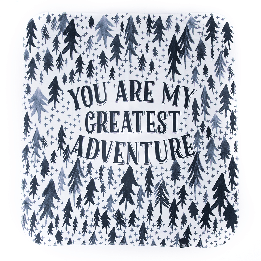 'Greatest Adventure' Organic Cotton Knit Blanket  - The Project Nursery Shop - 1