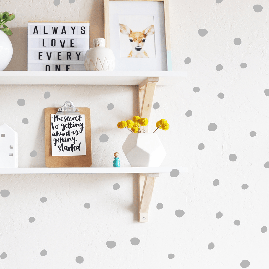 Tiny Hand Drawn Dots Grey - The Project Nursery Shop - 5
