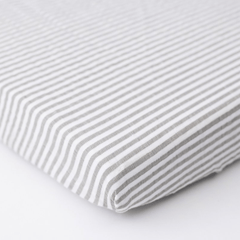 Gray Stripe Cotton Muslin Mini Crib Sheet - Project Nursery