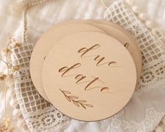 Etched Wooden Pregnancy Milestone Disc Collection - Project Nursery