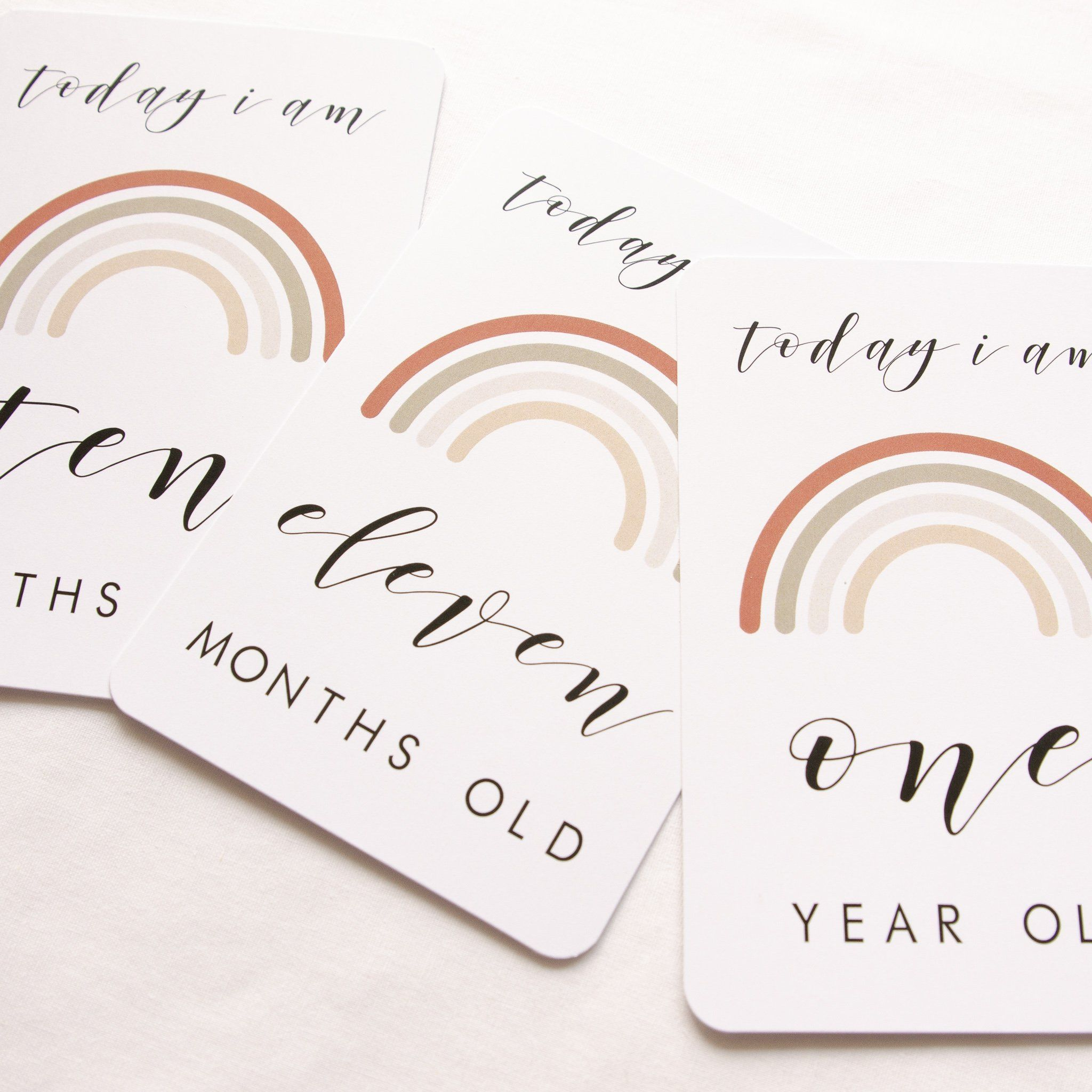 Rainbow Baby Milestone + Moment Card Collection - Project Nursery