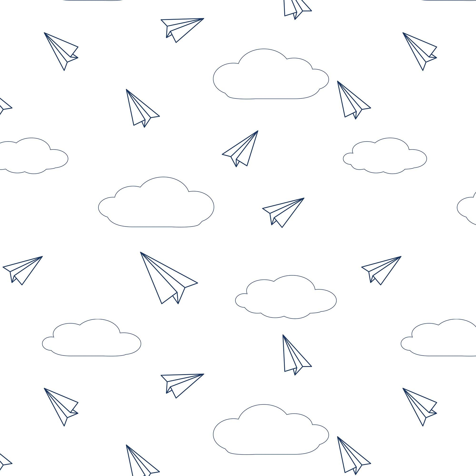 Paper Airplanes Organic Cotton Jersey Crib Sheet - Project Nursery