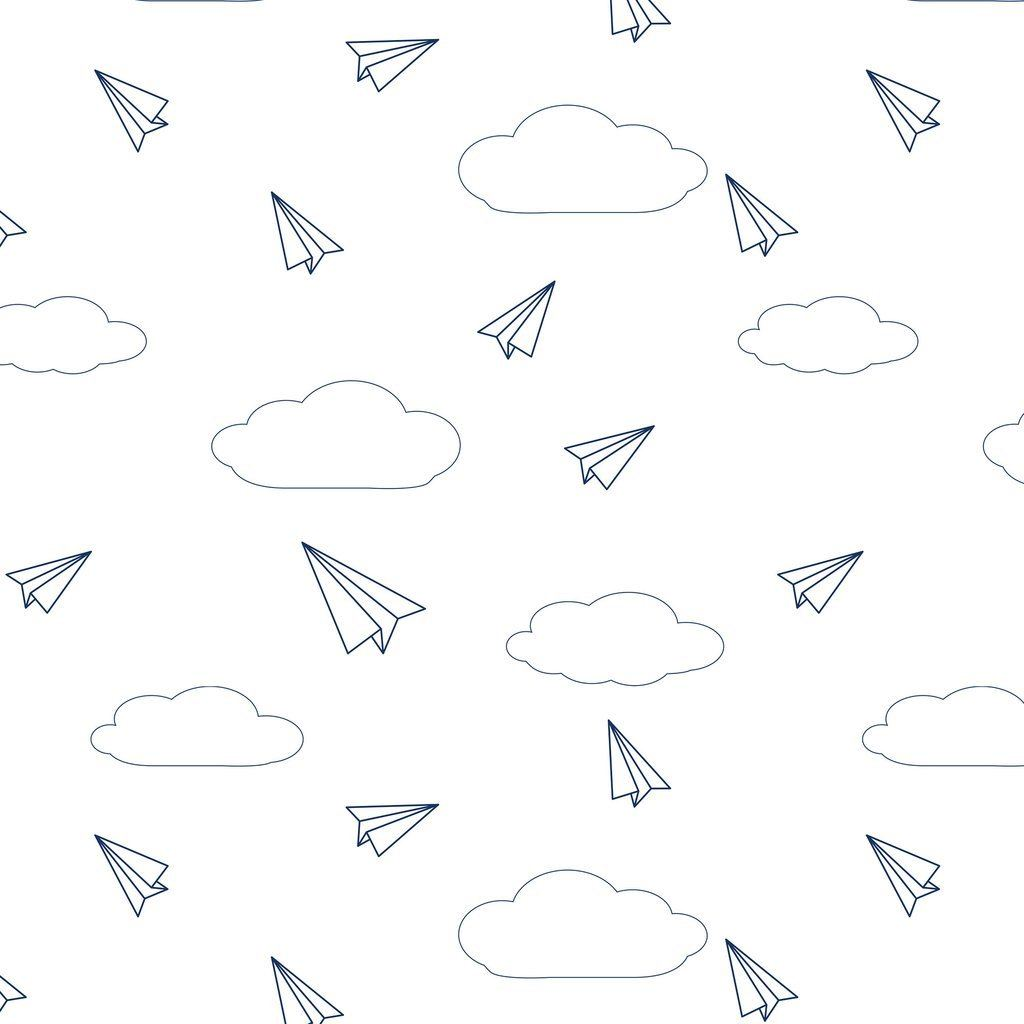 Paper Airplanes Organic Cotton Jersey Mini Crib Sheet - Project Nursery