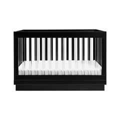 Harlow Acrylic 3-in-1 Convertible Crib with Toddler Bed Conversion Kit - Black - Project Nursery