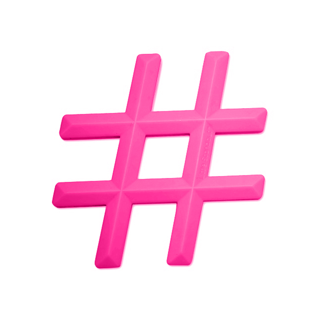 Silicone Hashtag Teether  - The Project Nursery Shop