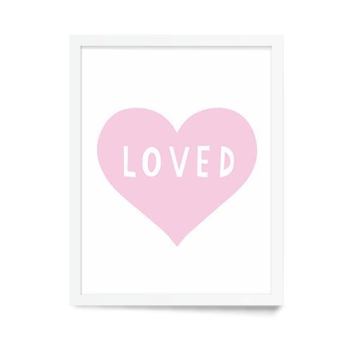Pink Heart Art Print - Project Nursery