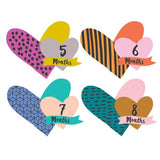 Little Heartbreaker Cutout Monthly Stickers  - The Project Nursery Shop - 2