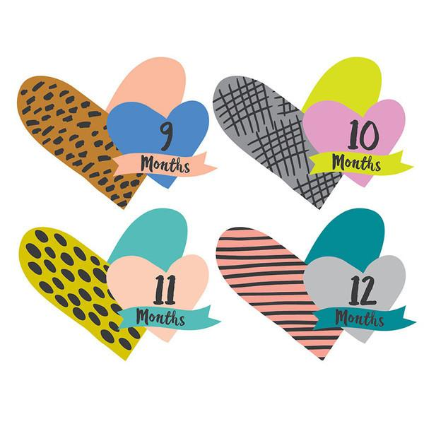 Little Heartbreaker Cutout Monthly Stickers  - The Project Nursery Shop - 3