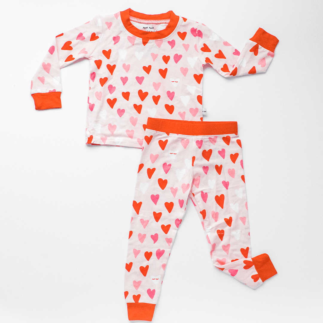 Hearts Two-Piece Bamboo Toddler Pajama Set - Project Nursery