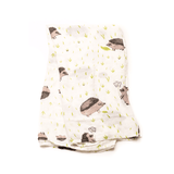 Deluxe Muslin Swaddle in Hedgehog  - The Project Nursery Shop - 2