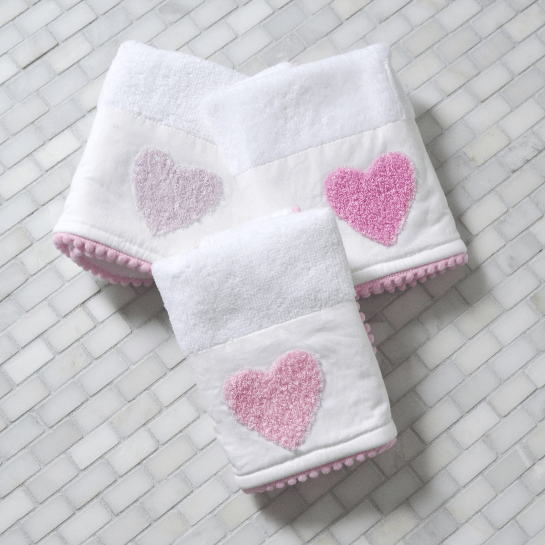 Organic Cotton Washcloth Set - Boucle Heart - Project Nursery