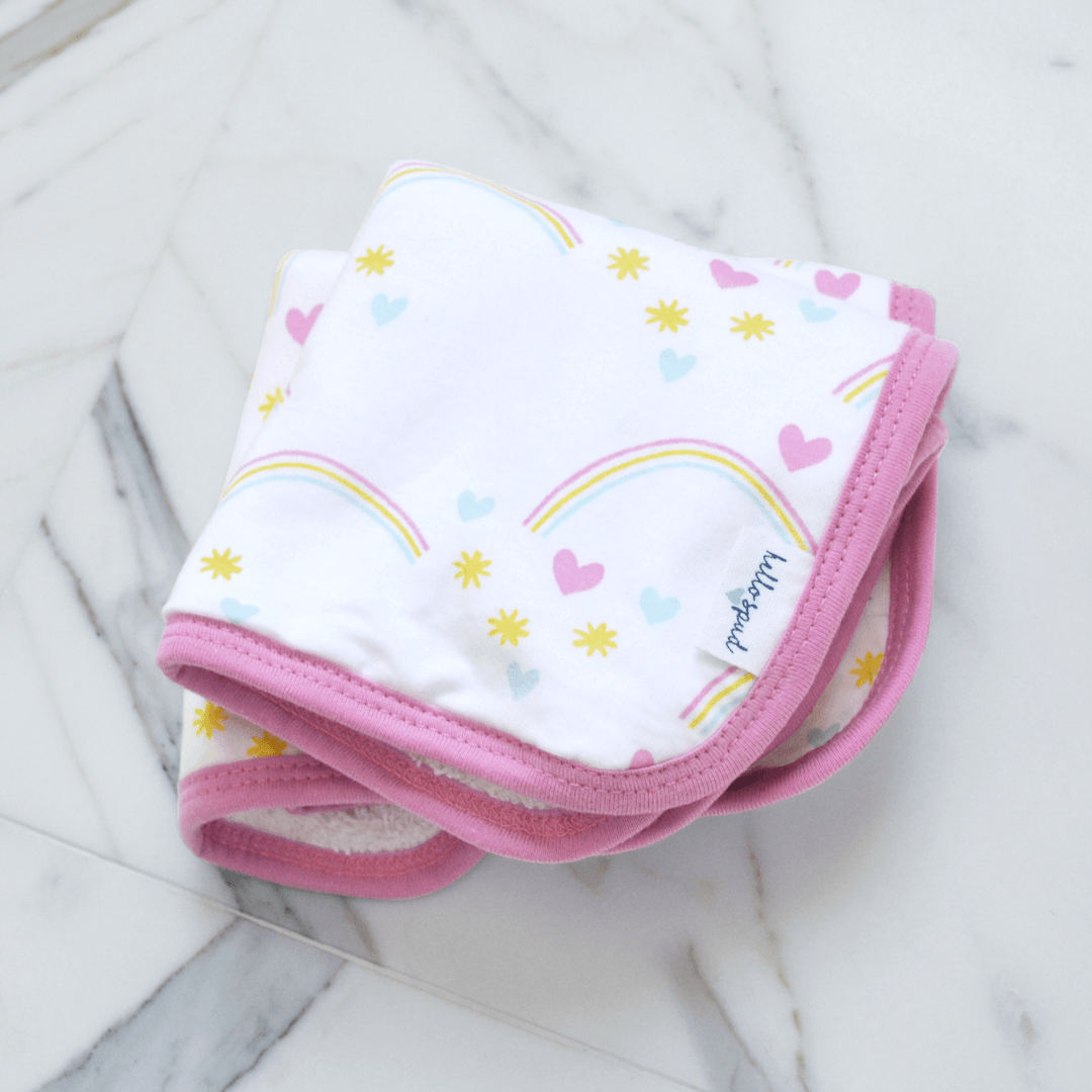 Organic Cotton Washcloth Set - Rainbows - Project Nursery