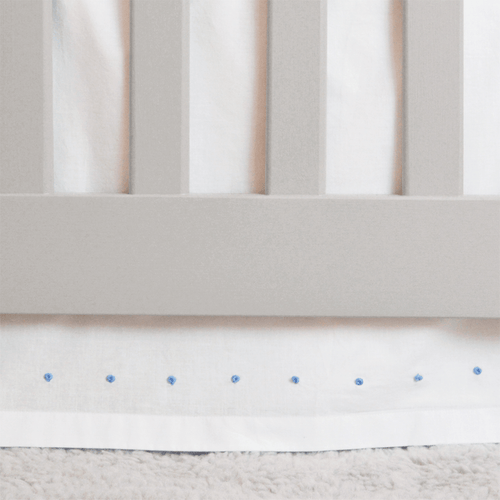 French Knot Cotton Crib Skirt - Project Nursery