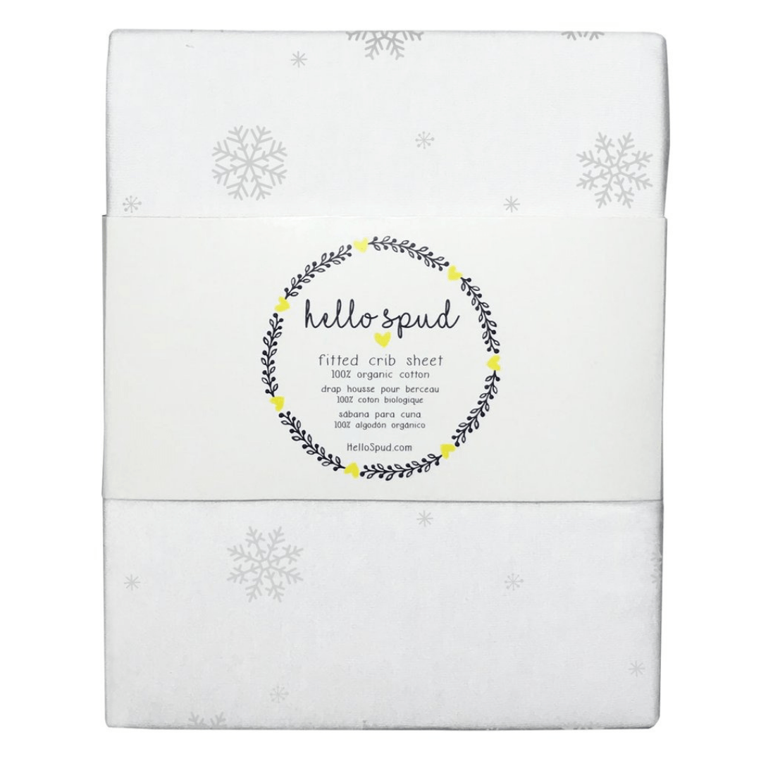 Holiday Snowflakes Organic Jersey Crib Sheet - Project Nursery