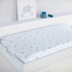Navy Paper Airplanes Organic Cotton Changing Pad Cover - Project Nursery
