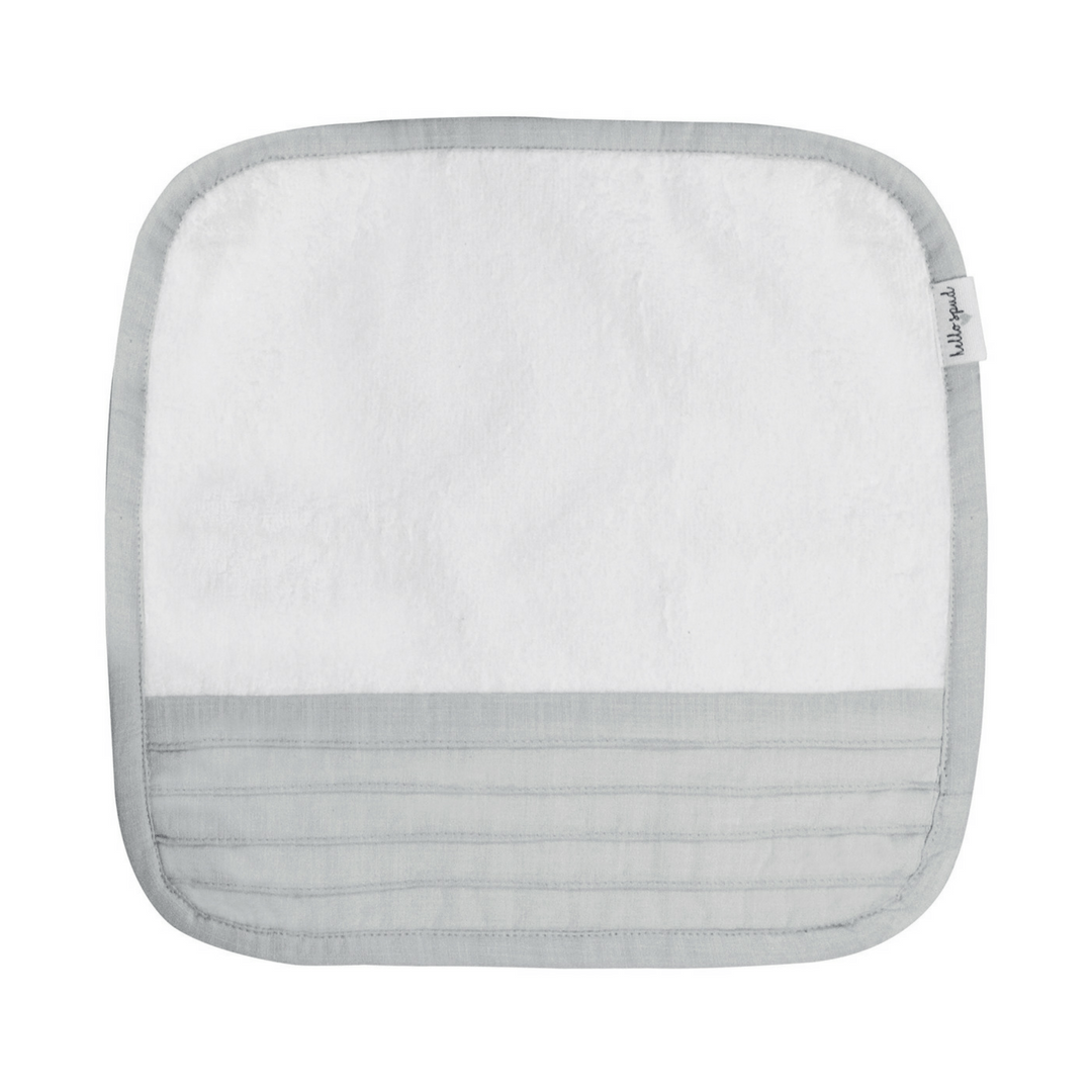 Organic Cotton Washcoth Set - Pintuck Gray - Project Nursery