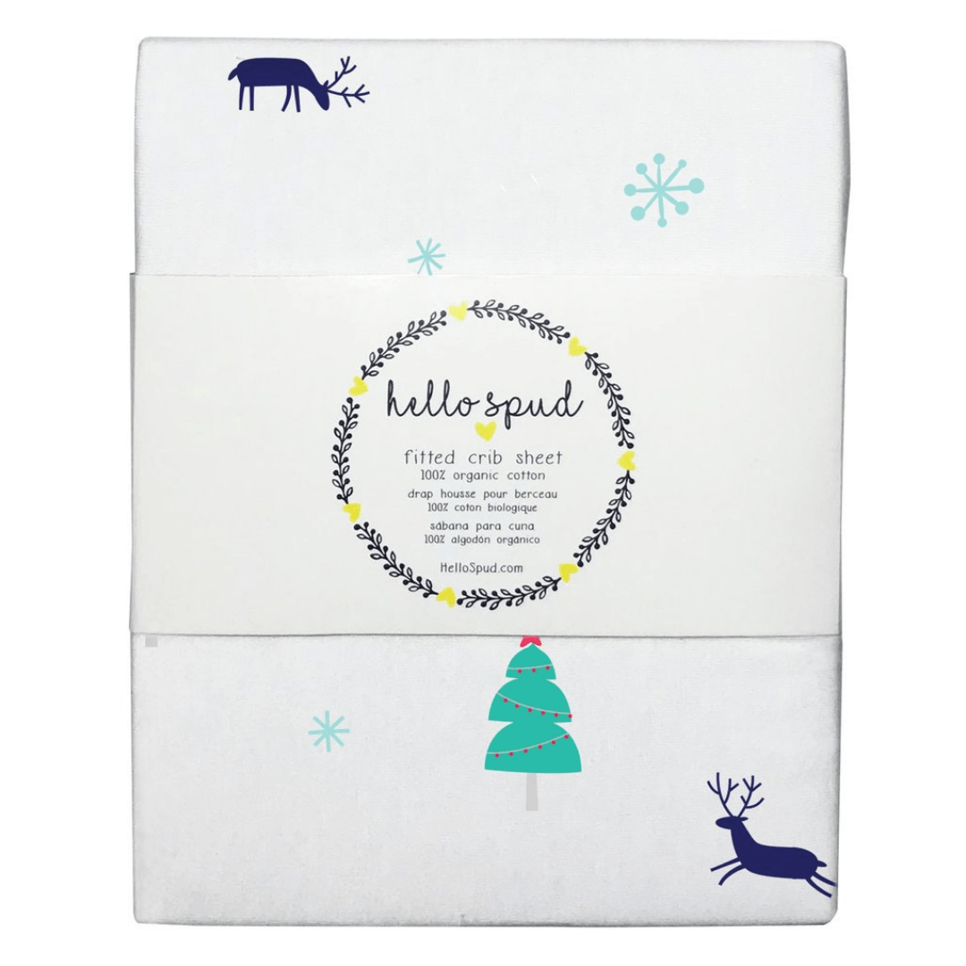 Reindeer Organic Jersey Crib Sheet - Project Nursery