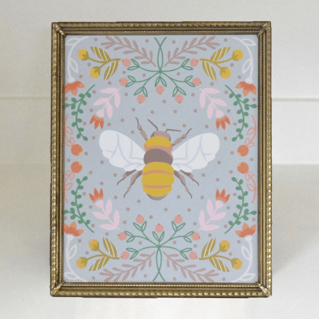 Blue Bee Fine Art Print - Project Nursery