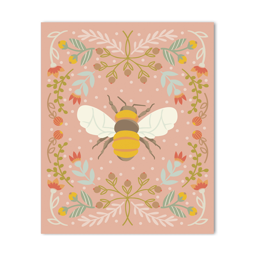 Pink Bee Fine Art Print - Project Nursery