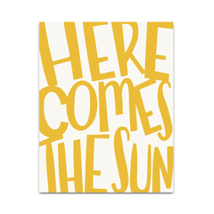 Here Comes the Sun Art Print - Project Nursery