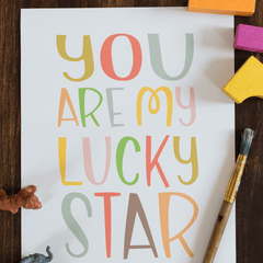 You Are My Lucky Star Wall Print - Project Nursery
