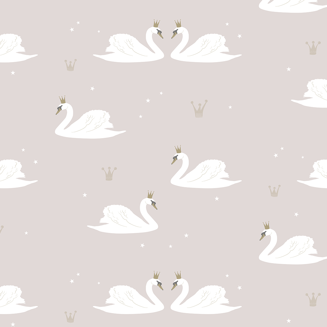 Swans Wallpaper - Project Nursery