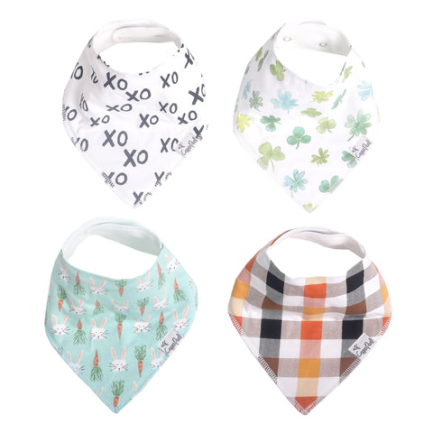 Gray Basics Baby Bandana Bib Set