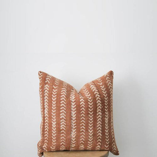 Mud Cloth Pillow Cover in Rust Arrows - Project Nursery