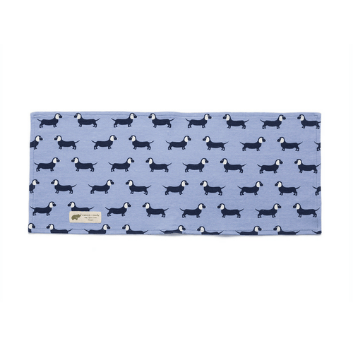 Cotton Burp Cloth - Blue Dachshund - Project Nursery