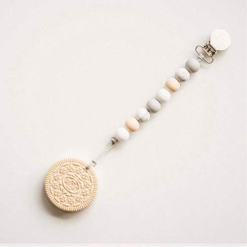 Cream Cookie Teether with Clip - Project Nursery