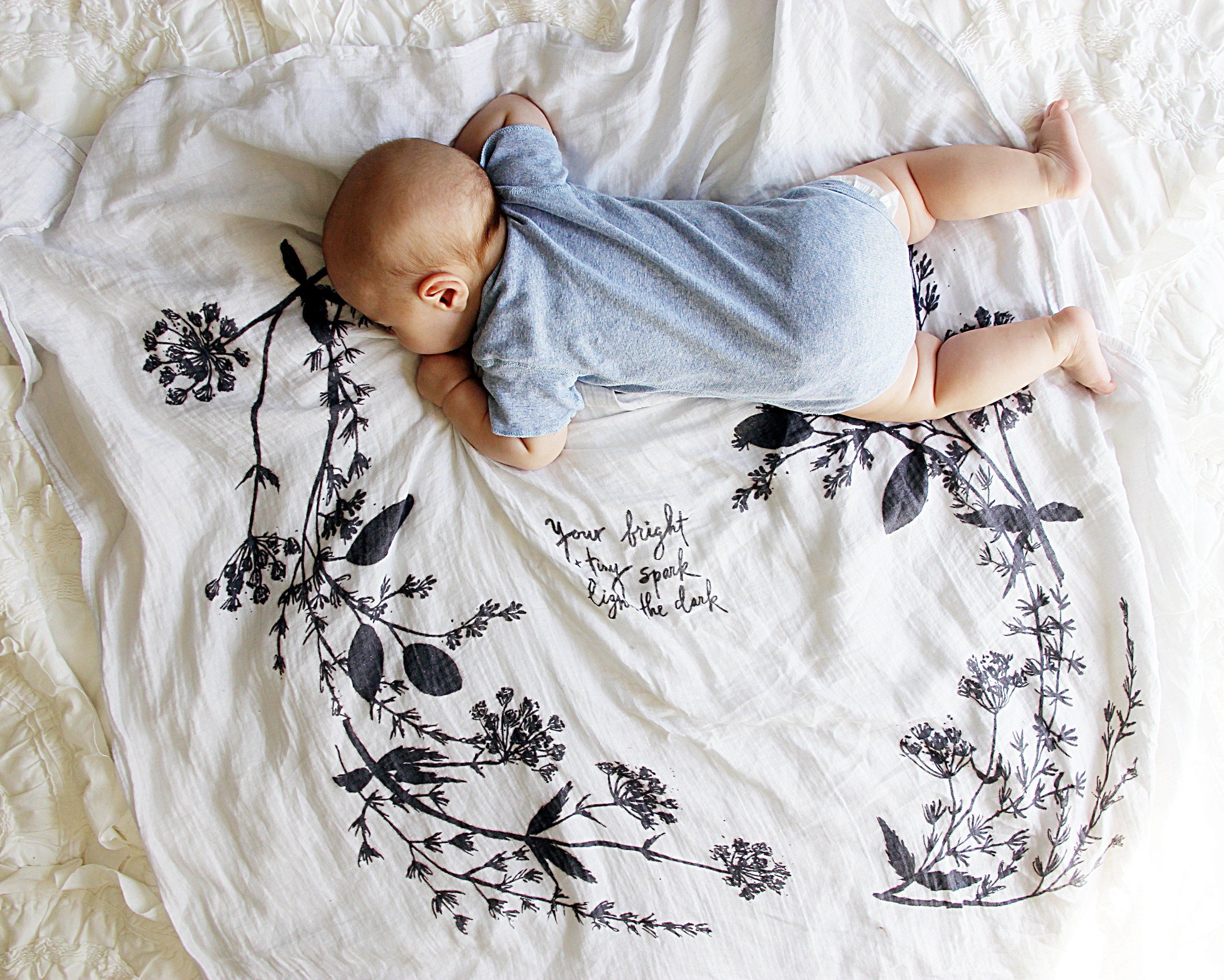 Organic Cotton Gauze Garland Swaddle - Project Nursery
