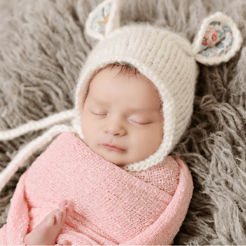 Harper Bear Mohair Knit Bonnet - Project Nursery