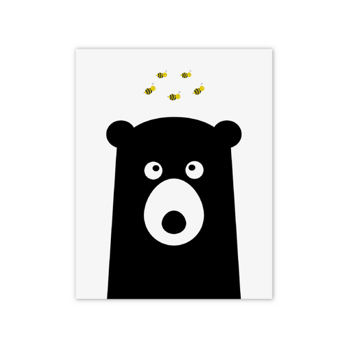 Bear with Bees Print - Project Nursery