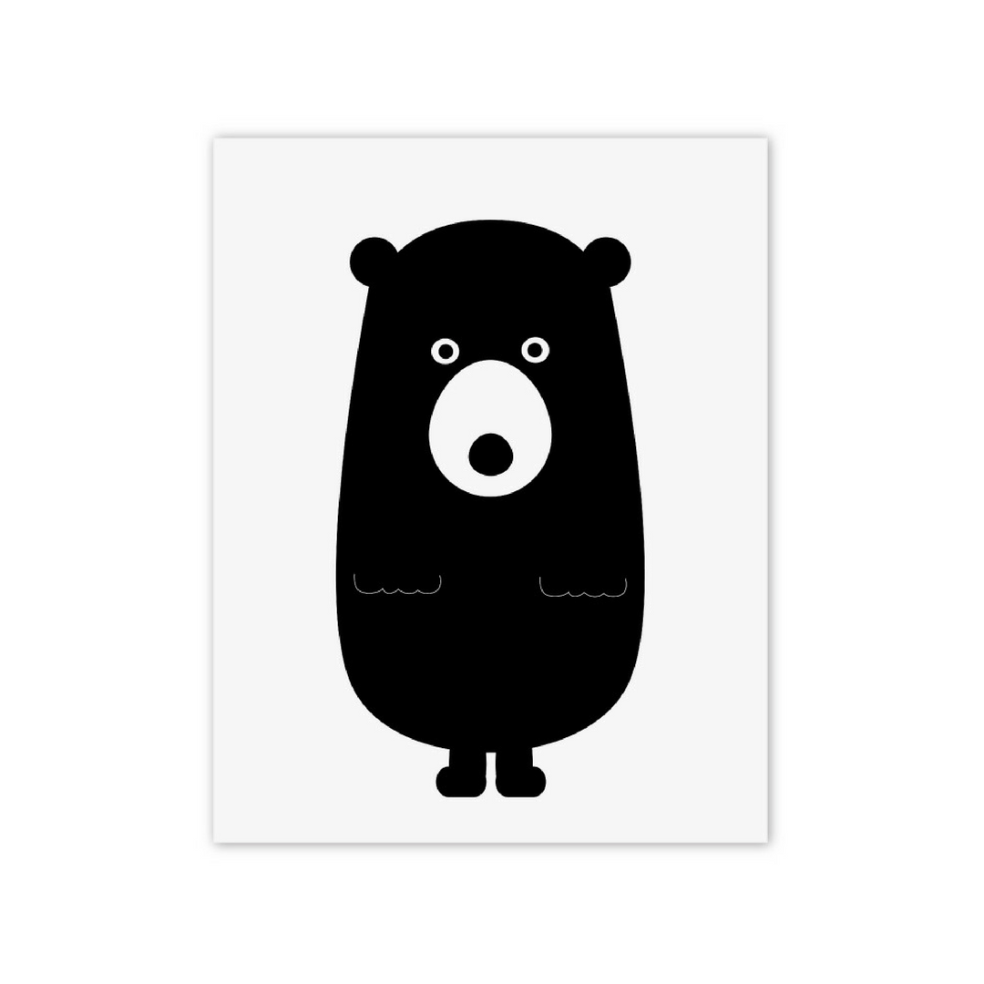Black Bear Print - Project Nursery