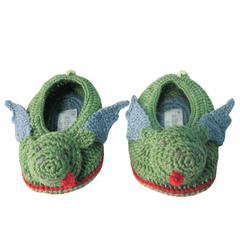 Crochet Dragon Booties - Project Nursery