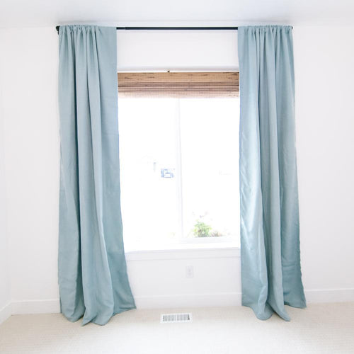 Sea Blue Blackout Curtain Set - Project Nursery