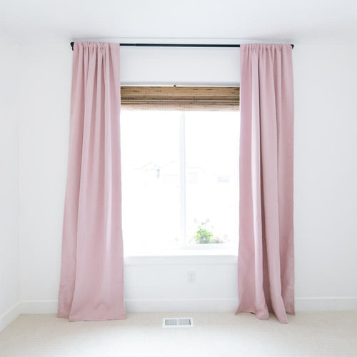 Blush Blackout Curtain Set - Project Nursery