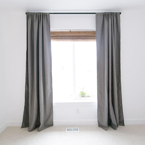 Dark Grey Blackout Curtain Set - Project Nursery