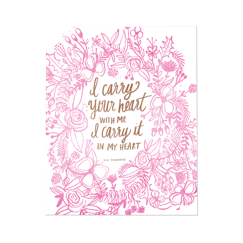 Baby Giraffe Little Darling Print