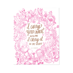 I Carry Your Heart with Me Print - Project Nursery