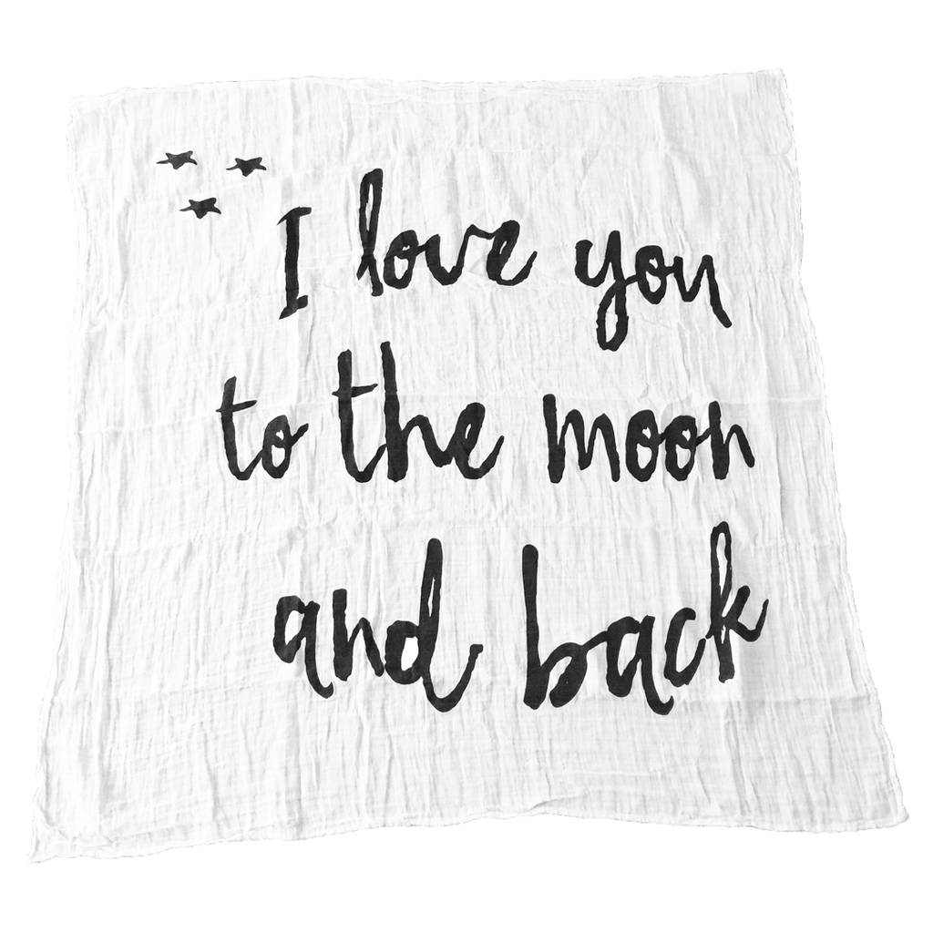I Love You to the Moon and Back Organic Swaddle  - The Project Nursery Shop - 1