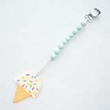 Ice Cream Silicone Teether with Clip Mint - The Project Nursery Shop - 1