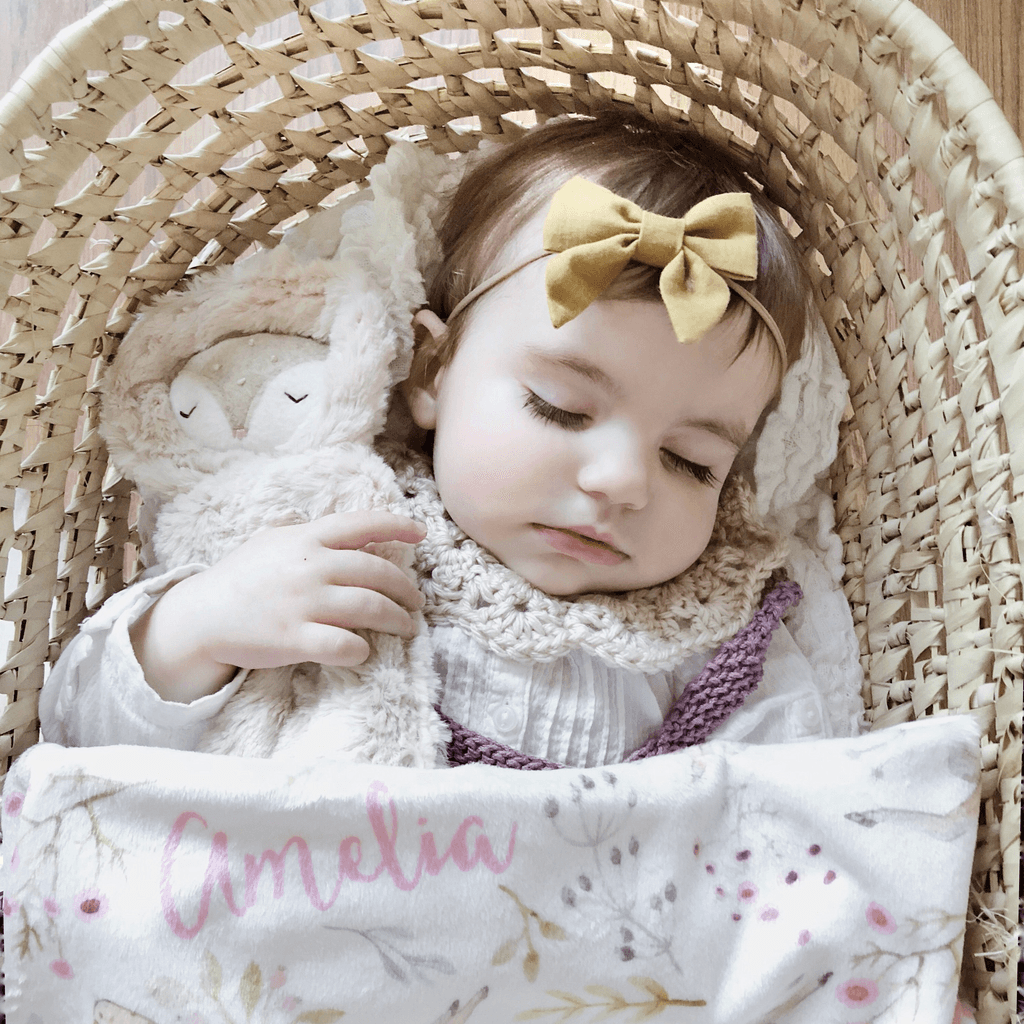 Personalized Pretty Woodland Organic Swaddle Blanket - Project Nursery