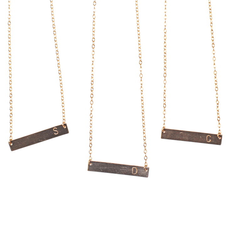 Initial Bar Necklace  - The Project Nursery Shop - 2