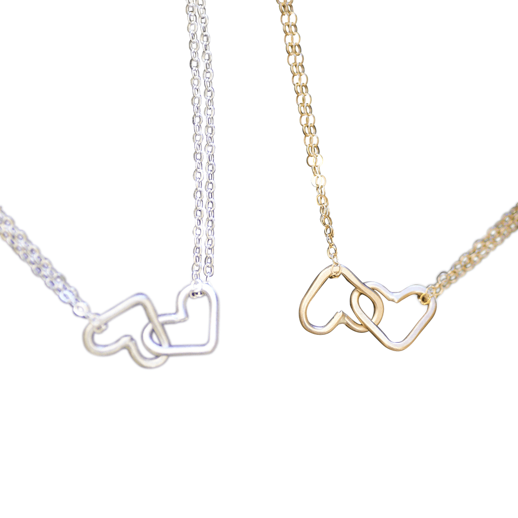 Interlocking Hearts Necklace  - The Project Nursery Shop - 2