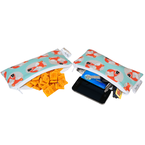 SNACK HAPPENS MINI™ REUSABLE SNACK AND EVERYTHING BAG - FOX - Project Nursery