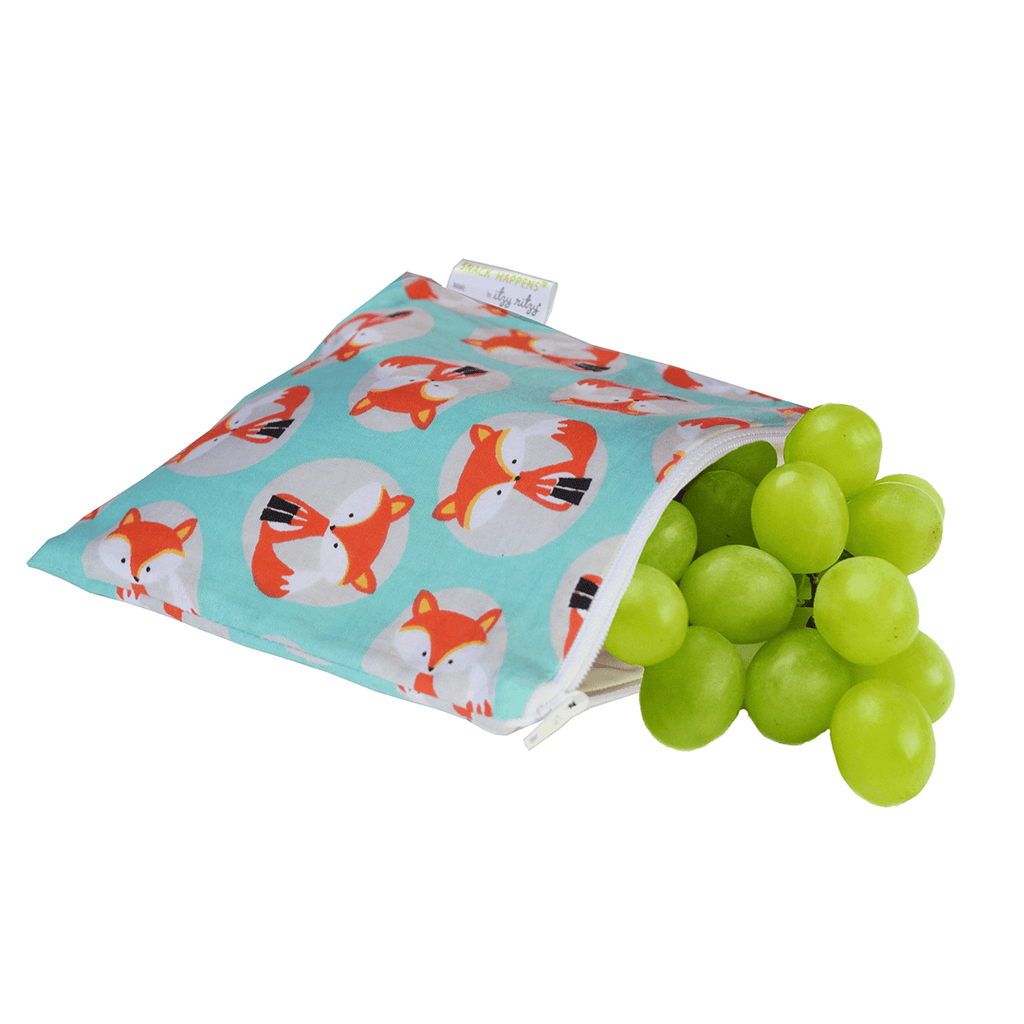 SNACK HAPPENS™ REUSABLE SNACK AND EVERYTHING BAG - FOX  - The Project Nursery Shop